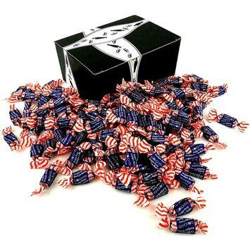 GoLightly Sugar Free Fudgie Rolls, 2 lb Bag in a BlackTie Box