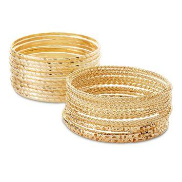 Attention Women's 25-Pack Goldtone Bangle Bracelets