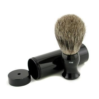 Eshave Travel Brush Fine With Canister Black 1Pc
