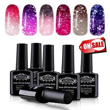 Perfect Summer Color Changing Gel Nail Polish Set - Soak Off UV/LED Chameleon Temperature Changes Polish,10ml each #01