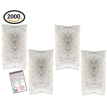 Medium Cotton Balls 4 Packs of 500 (2000 Total) + Vakly 1st Aid Kit Guide (4)