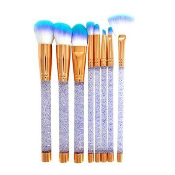 aliveGOT 8Pcs Makeup Brush Set Professional Face Eye Shadow Eyeliner Foundation Blush Blending Brush Face Powder Blush Concealers Eye Shadows Make Up Brushes Kit