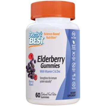 Elderberry Gummies with Vitamin C & Zinc - Immune Support - Berry (60 Gummies)