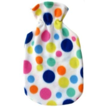 Fashy Hot Water Bottle with Plushie cover set (Big Dots)