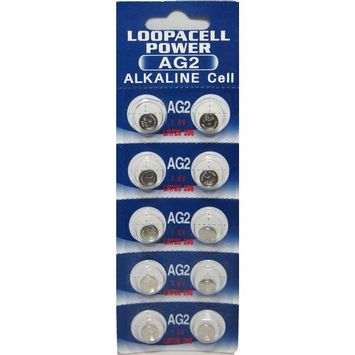 LOOPACELL 10 Pack AG2 LR726 396 397 D396 D397 GP397 V396 Alkaline Button Cell Battery