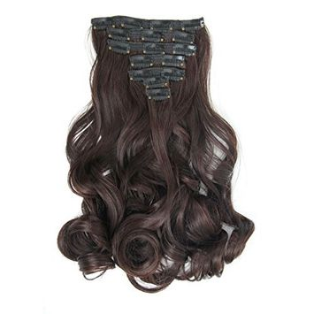 LOUISE MAELYS 16 Clips in Hair Extensions Ponytail Long Wavy Hair Piece
