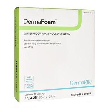 DERMAFOAM FOAM DRESSING 4X4.25 (BX)