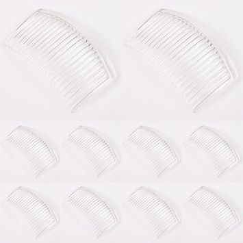 Polytree 10Pcs 23 Teeth Plastic Women Girl Plastic Comb Hair Pin Clip Hairdressing Clamp