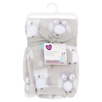 Parent's Choice Plush Baby Blanket, Gray Owl