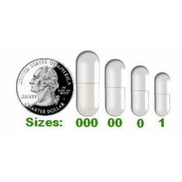 500 Empty Vegetarian Capsules Size 1 (Clear Veg Caps) - Bulk/Wholesale Package