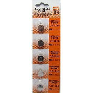 5 Loopacell Button Cell REMOTE FOB KEY KEYLESS CR1220 Batteries