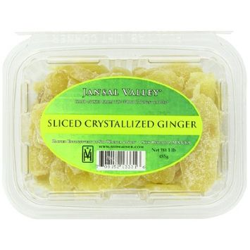Jansal Valley Sliced Crystallized Ginger, 1 Pound