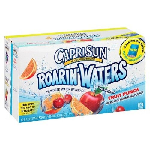 Capri Sun Roaring Waters Fruit Punch 6OZ 10PK