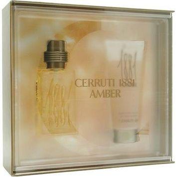 Cerruti 1881 Amber By Nino Cerruti For Men. Set-edt Spray 1.7 OZ & All Over Shampoo 3.3 OZ