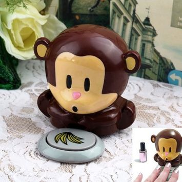 Mini Cute Plastic Monkey Finger Nail Polish Varnish Air Dryer Blower By VAGA