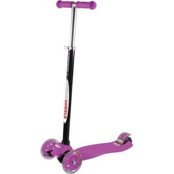 Mp3 World Corp Vertigo 3-Wheel Scooter Glider with Light Up Wheels, Ages 6+ , Assorted Colors