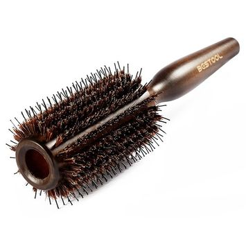 BESTOOL Boar Bristle Round Hair Brush with Nylon Pin Wooden Detangling Large Round Brush for For Men, Women, Kid Blow Drying, Dry, Wet, Thick and Curly Hair, Adding Volume and Shine