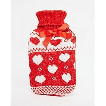 NPW Winter Warmer Heart Fair Isle Sweater over Hot Water Bottle 750ml