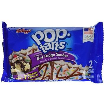 Pop-Tarts Breakfast Toaster Pastries, Frosted Hot Fudge Sundae Flavored, Bulk Size, 144 Count (Pack of 12, 20.3 oz Boxes)