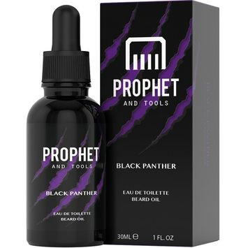 Prophet and Tools Black Panther Beard Oil - Sexy Dark Fragrant - The All-In-One Softener, Shine, Growth and Keeps Hairs Clean - Vegan and Nuts-Free!