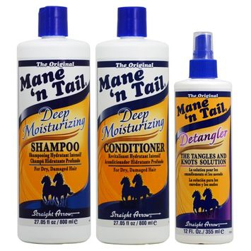 Mane 'n Tail Deep Moisturizing Shampoo + Conditioner 27.05oz + Detangler 'Set'