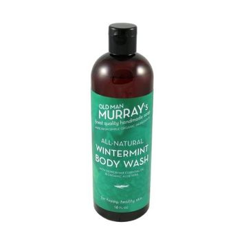 Wintermint All-Natural Body Wash w/Peppermint Essential Oil - Handmade w/Simple Organic Ingredients - No Parabens, Alcohol, Petroleum, Artificial Dyes or Fragrances