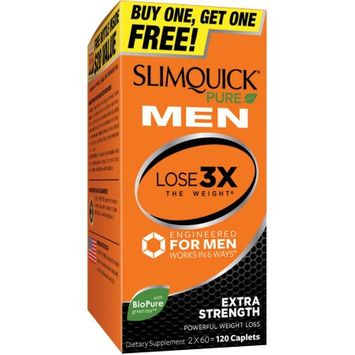 Platinum Distribution Inc. Slimquick Pure Men Extra Strength Dietary Supplement, 60 count, (Pack of 2)