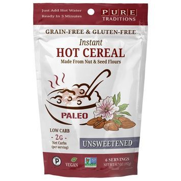 Instant Hot Cereal, Grain and Gluten-Free, Certified Paleo, Unsweetened, 14 Servings