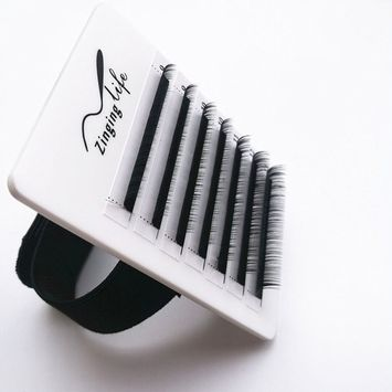 LEAVE NO GLUE MARK durable professional hard lash holder matt white acrylic eyelash extensions hand plate with adjustable wrist strap