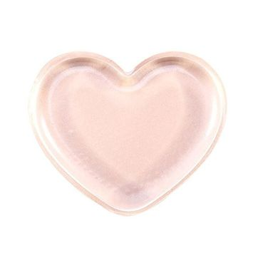 Premium Silicone Makeup Sponge Hosamtel 1PC Love Heart-shaped Applicator Beauty Blender Makeup Puff for Liquid Foundation BB CC Cream Concealer Beauty Essentials Application
