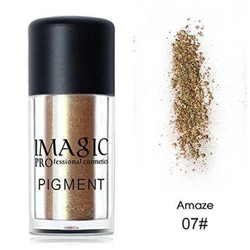 IMAGIC Brand Metallic Glitter Loose Eyeshadow Powder Waterproof Shimmer Pigments Nude Color Eye Shadow Makeup Cosmetics By KingWo