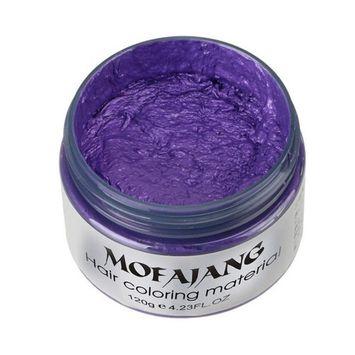 Sympath 2017 DIY Hair Clay Wax Mud Dye Cream Grandma Hair Ash Dye Temporary 7 Colors (G)