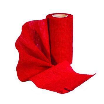 SUREFLEXX, RED 4 X 5 YARD ROLL, VET WRAP, SELF-ADHERENT COHESIVE GENERAL PURPOSE WRAP.