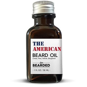 All Natural Beard Oil   Proudly Made in the USA   Live Bearded (Campfire Fragrance - The American Beard Oil)
