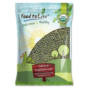 Organic French Green Lentils by Food to Live (Whole Dry Beans, Non-GMO, Kosher, Raw, Sproutable, Bulk) — 10 Pounds