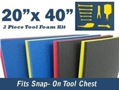 5s Supplies Llc Custom Foam Tool Kits 20' x 40' Blue / Red