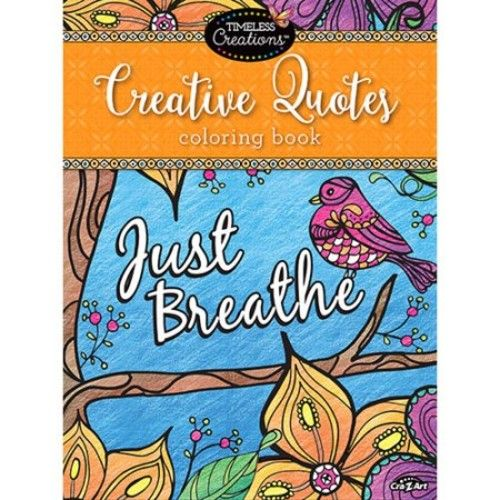 Cra-Z-Art Timeless Creations CREATIVE QUOTES Coloring Book
