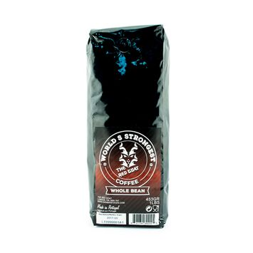 The Red Goat Original Ground Coffee, the World's Strongest Coffee - 16 Ounce Bag (Whole Bean)