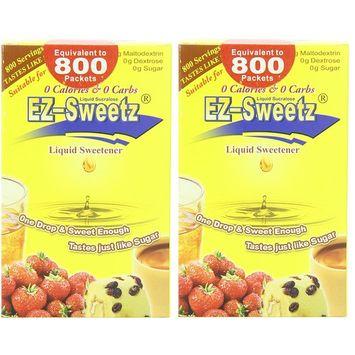 EZ-Sweetz (2.0oz - Liquid Sweetener 800 Servings/Bottle) (Original, 2 Pack)