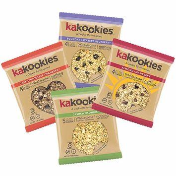 Kakookies Energy Cookies - Sampler Pack (4 Cookies) - Vegan, Gluten-Free, Soft-Baked Superfood Snack Cookies