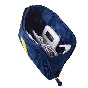 Portable Makeup Bag/Travel Makeup Bag/Travel general bag/electronic accessories box package/Navy Multi Function shock proof digital bag(Large