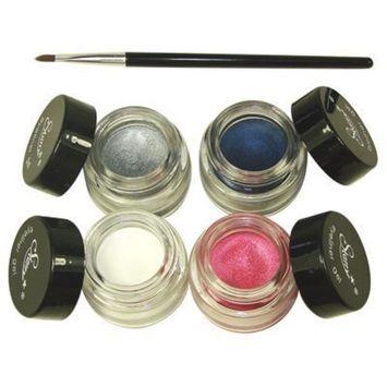 4 Starry Long Lasting Waterproof Eyeliner Gel Snow, Heavenly Pink, Midnight Sky,Shimmer Stone