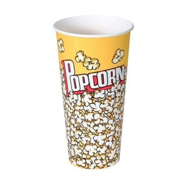 SOLO V24-00061 Treated Paper Popcorn Cup, 24 oz. Capacity, Popcorn Print (Case of 1,000)