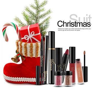 Creazy Christmas Makeup Kits Gift Set Eyeshadow Powder Lip Gloss Eyelash Lipstick Kit
