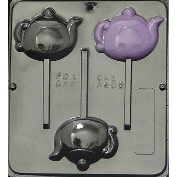 3408 Tea Pot Lollipop Chocolate Candy M
