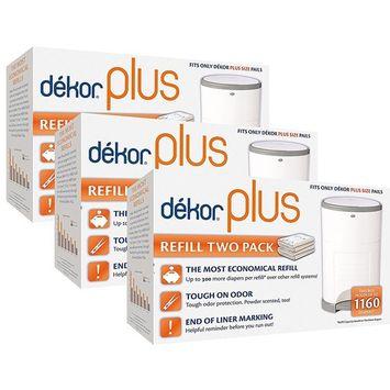 Diaper Dekor Plus Diaper Pail Liner Refills, 3 Pack [3 Pack]