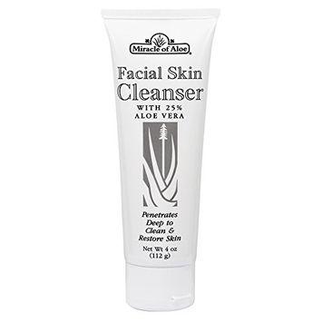 Facial Skin Cleanser 4 ounce tube with 25% UltraAloe