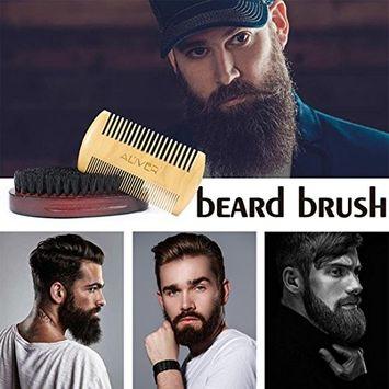 Creazy 3Pcs Resin Handle Shaving Shave Brush Black Badger Hair Barber Salon Tool