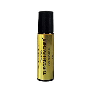 Pure Perfume Oil IMPRESSION with SIMILAR Accords to: -(TF TUSCAN LEATHER)_; Long Lasting Scent, No Alcohol Oil - Perfume Oil VERSION/TYPE; Not Original Brand (10ML ROLLER BOTTLE)
