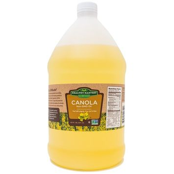 Healthy Harvest Canola Oil - Non-GMO Certified with Antioxidants and Omega-3s (One Gallon - 128 oz.)